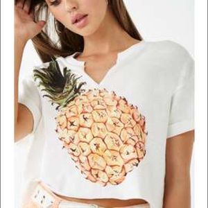 NWT Forever 21 Pineapple Crop